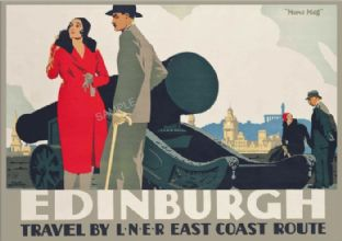Edinburgh Castle 'Mons Meg'  One O'Clock Gun ART DECO